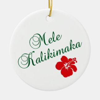 Mele Kalikimaka Double-Sided Ceramic Round Christmas Ornament