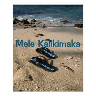 Mele Kalikimaka Flip Flops Poster