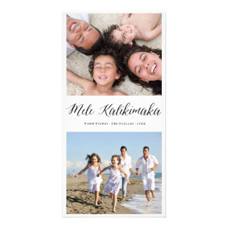 Mele Kalikimaka Fun Christmas Holiday Photo Card