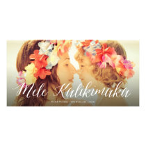 Mele Kalikimaka Fun Christmas Holiday Photo Card
