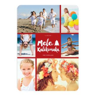 Mele Kalikimaka Fun Christmas Photo Collage Card