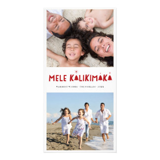 Mele Kalikimaka Fun Holiday Christmas Photo Card