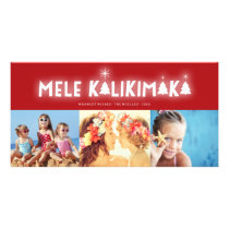Mele Kalikimaka Glow Christmas Photo Holiday Card