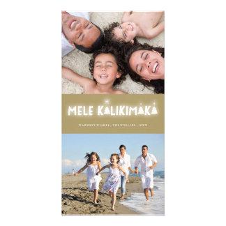 Mele Kalikimaka Glow Christmas Photo Holiday Card