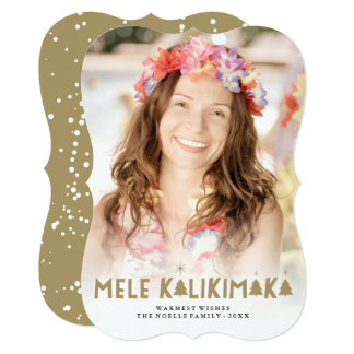 Mele Kalikimaka Glow Modern Christmas Photo Card