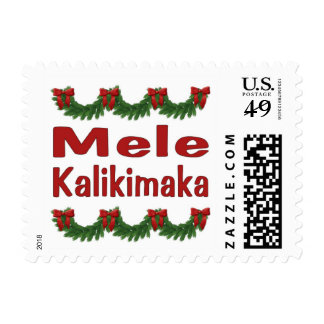 Mele Kalikimaka Hawaii Christmas wreaths stamps