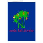 Mele Kalikimaka Hawaiian Christmas Apparel Greeting Cards