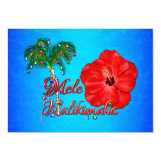 Mele Kalikimaka Hawaiian Christmas Card