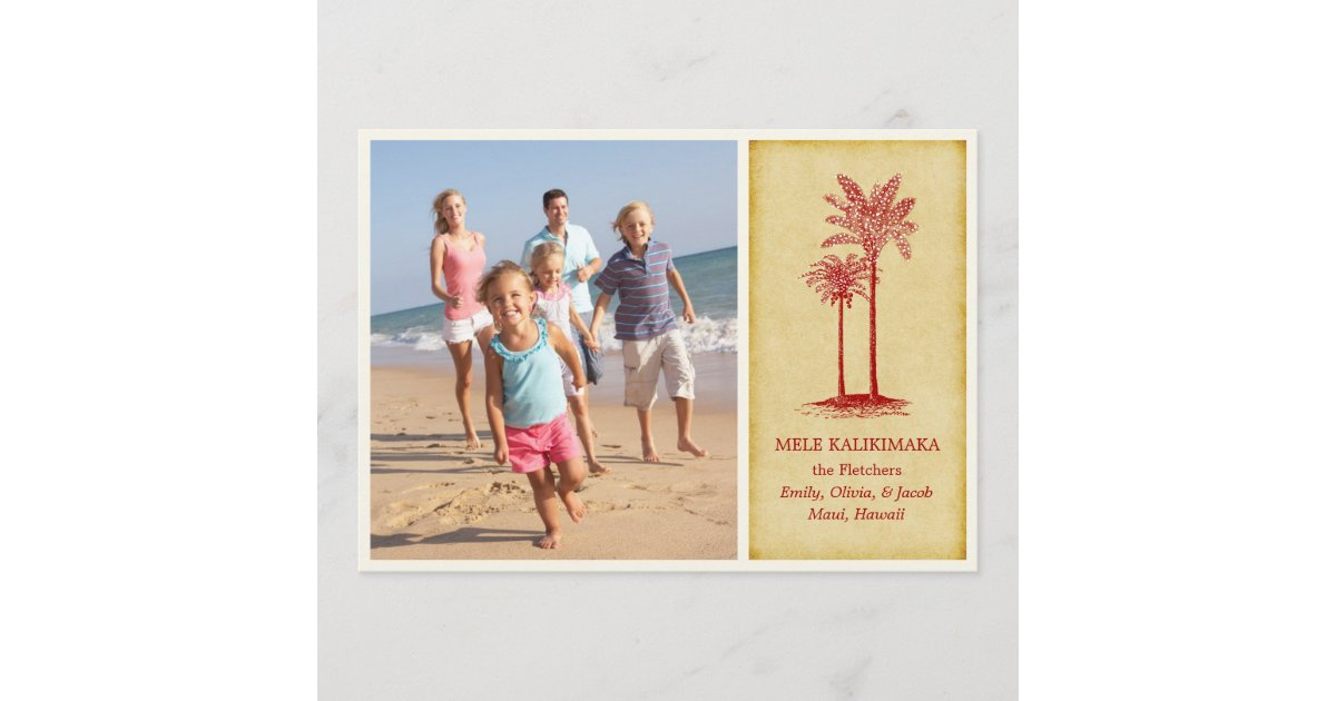 Mele Kalikimaka Hawaiian Christmas Cards