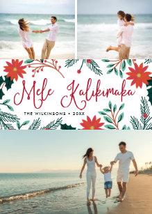 Hawaiian christmas cards zazzle mele kalikimaka hawaiian christmas photo collage holiday card m4hsunfo