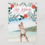 "Mele Kalikimaka | Hawaiian Christmas Photo Holiday Card<br><div class=""desc"">Send holiday greetings to friends and family, island-style, with our tropical holiday photo cards. Design features your favorite photo with the Hawaiian Christmas greeting ""Mele Kalikimaka"" in red hand lettered typography, flanked by vibrant red poinsettia flowers and holly leaves that cascade over your photo. Personalize with your names and the...</div>"