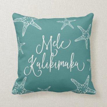 Hawaiian Themed Mele Kalikimaka | Hawaiian Christmas Throw Pillow