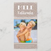 Mele Kalikimaka Holiday Photo Card / Beige