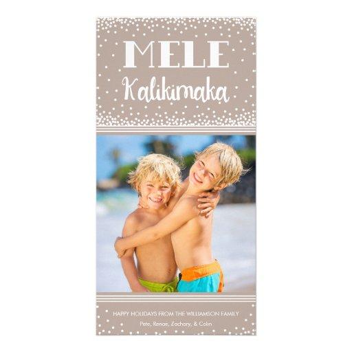 Mele Kalikimaka Holiday Photo Card / Beige