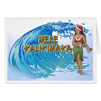 Mele Kalikimaka Hula Gal Christmas Card