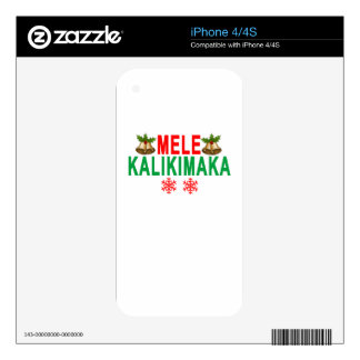 MELE KALIKIMAKA Merry Christmas and Happy New Year Skin For iPhone 4S