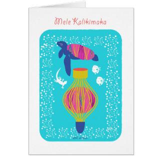 Mele Kalikimaka (Merry Christmas) turtle, fish, Cards
