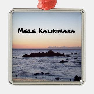 Mele Kalikimaka Metal Ornament