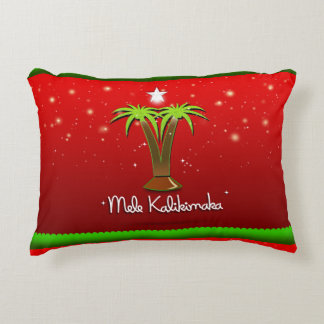 Mele Kalikimaka Palm Tree for Xmas Decorative Pillow