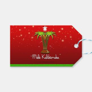 Mele Kalikimaka Palm Tree for Xmas Gift Tags