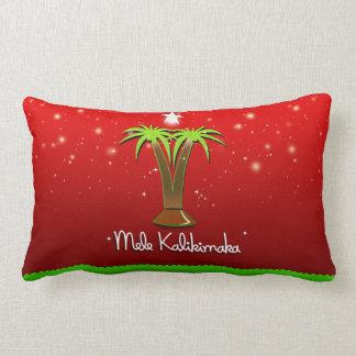 Mele Kalikimaka Palm Tree for Xmas Lumbar Pillow