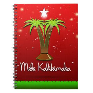 Mele Kalikimaka Palm Tree for Xmas Notebook