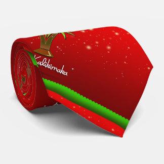 Mele Kalikimaka Palm Tree for Xmas Tie