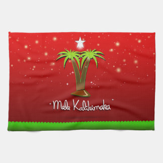 Mele Kalikimaka Palm Tree for Xmas Towel