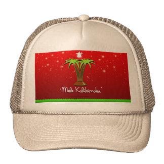 Mele Kalikimaka Palm Tree for Xmas Trucker Hat