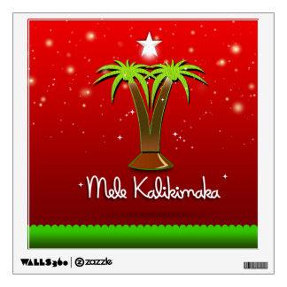 Mele Kalikimaka Palm Tree for Xmas Wall Decal
