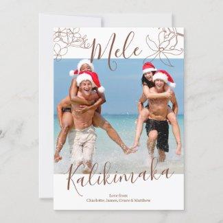 Mele Kalikimaka Personalized Christmas Holiday Card
