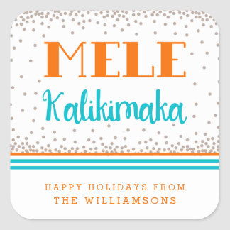Mele Kalikimaka Personalized Holiday Stickers