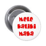 Mele Kalikimaka Pin Redondo 5 Cm