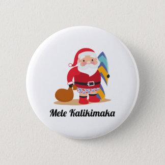 Mele Kalikimaka Pinback Button