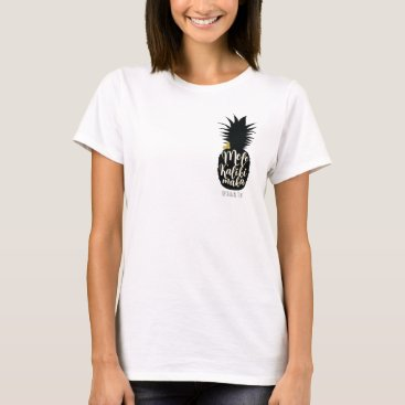 Beach Themed Mele Kalikimaka Pineapple Christmas Holiday T-Shirt