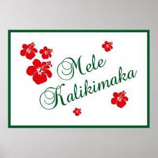 Mele Kalikimaka Póster