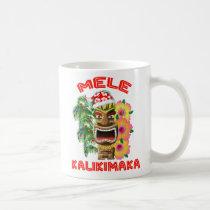 Mele Kalikimaka Santa Claus Tiki Coffee Mug