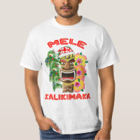 Mele Kalikimaka Santa Claus Tiki T-Shirt