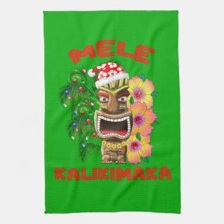 Mele Kalikimaka Santa Claus Tiki Towel
