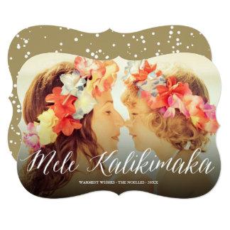 Mele Kalikimaka Script Modern Holiday Photo Card