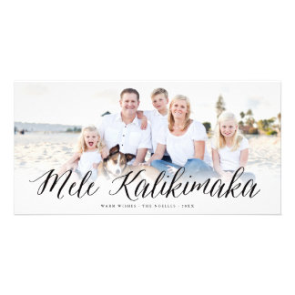 Mele Kalikimaka Simple Script Christmas Photo Card