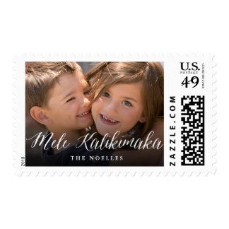 Mele Kalikimaka Simple Script Holiday Photo Stamps