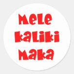 Mele Kalikimaka Stickers
