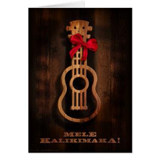 ¡Mele Kalikimaka Tarjeta de Navidad del Ukulele
