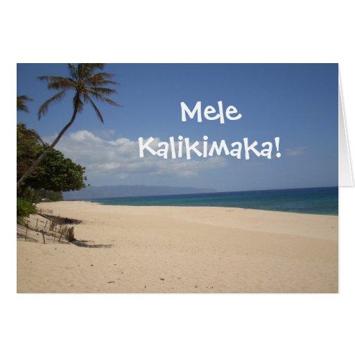 ¡Mele Kalikimaka! Tarjetas