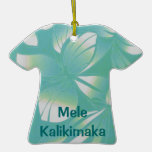 Mele Kalikimaka Tropical Aloha shirt Ornament