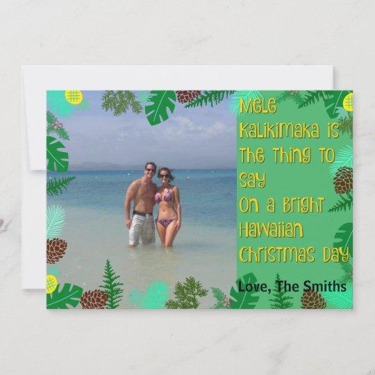Mele Kalikimaka Tropical Beach Christmas Card Zazzle Com