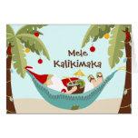 Mele Kalikimaka Tropical Santa Greeting Card