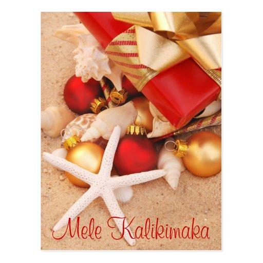 """Mele Kalikimaka"" Warm Weather Christmas Postcard"