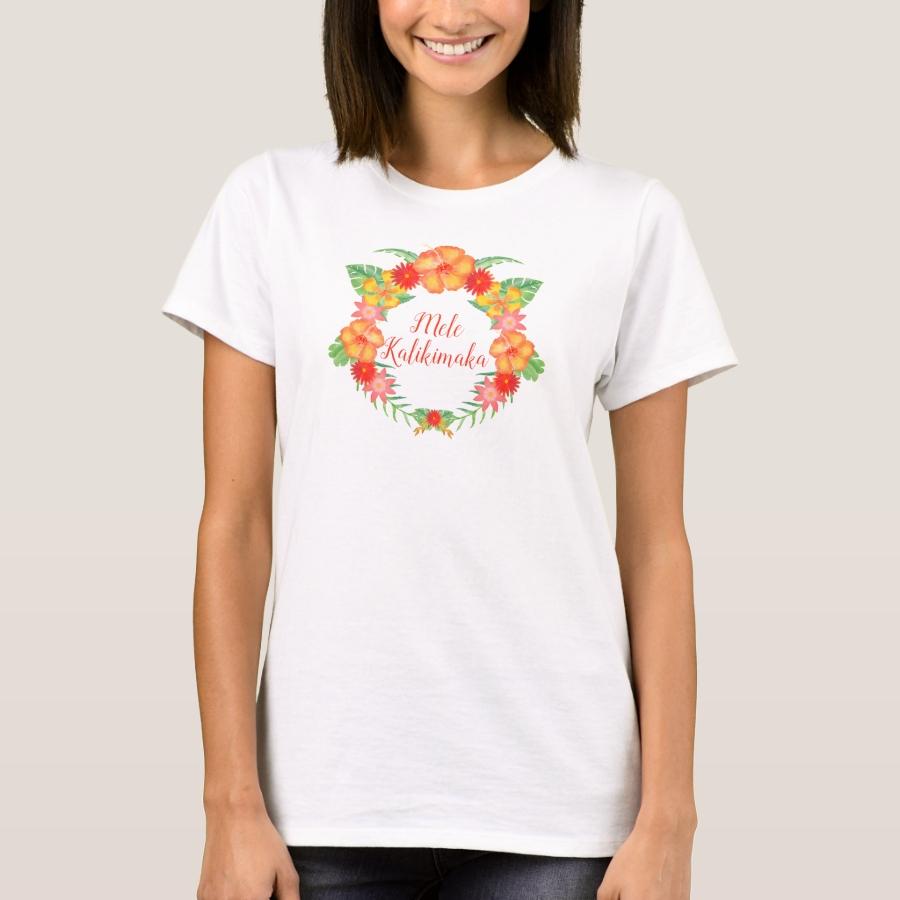 Mele Kalikimaka with Hibiscus T-Shirt - Best Selling Long-Sleeve Street Fashion Shirt Designs